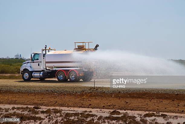 water tanker / truck dust suppression on construction site