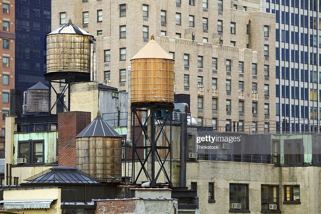 Water tanks and buildings