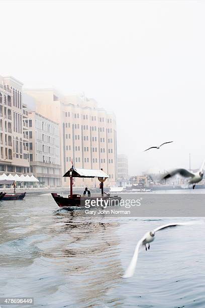 water taxi crossing The Creek in Dubai