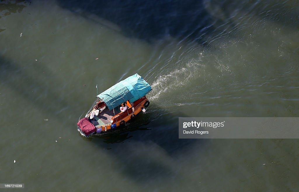 A water taxi in Hong Kong on May 31 2013 in Hong Kong