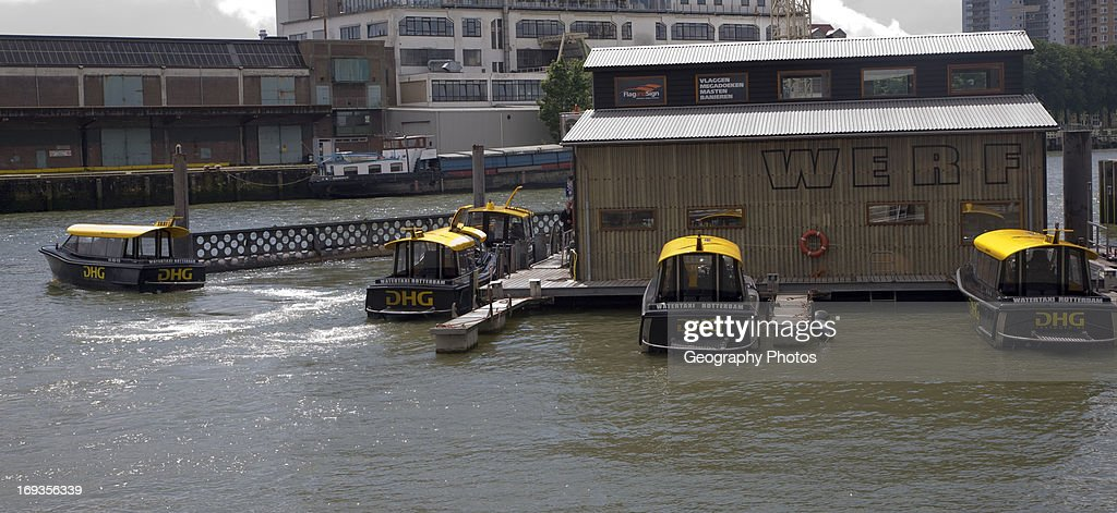 Water taxis City of Rotterdam South Holland Netherlands