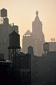 Water towers and the Con Edison Building