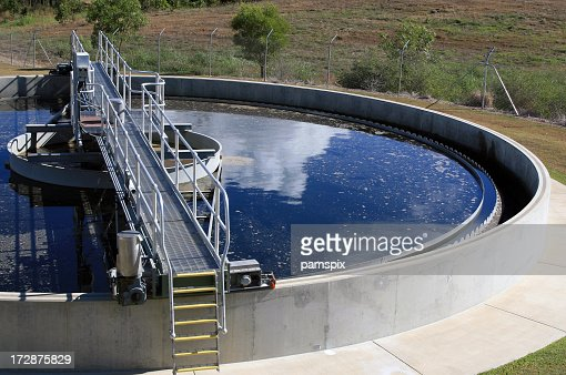 Water Treatment Plant Tank concept for water conservation recycling