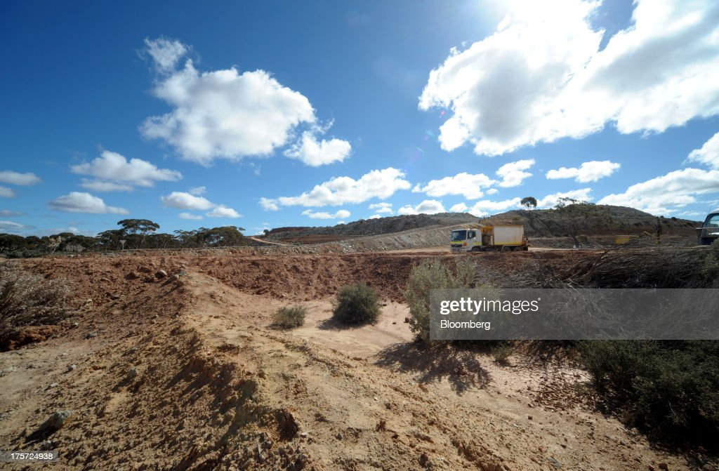 A water truck drives through the Phoenix Gold Ltd Castle Hill gold project in Kunanalling northwest of Kalgoorlie Australia on Tuesday Aug 6 2013...