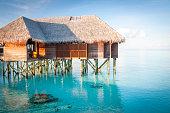 Water villa in the ocean