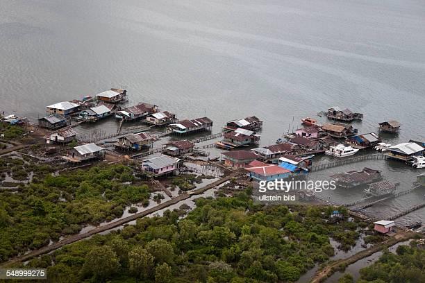 Water Village near Sorong Raja Ampat West Papua Indonesia
