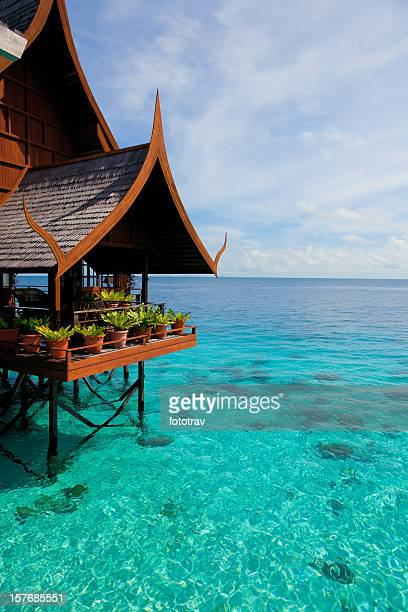 Water village on Mabul island, Sipadan, Borneo Malaysia