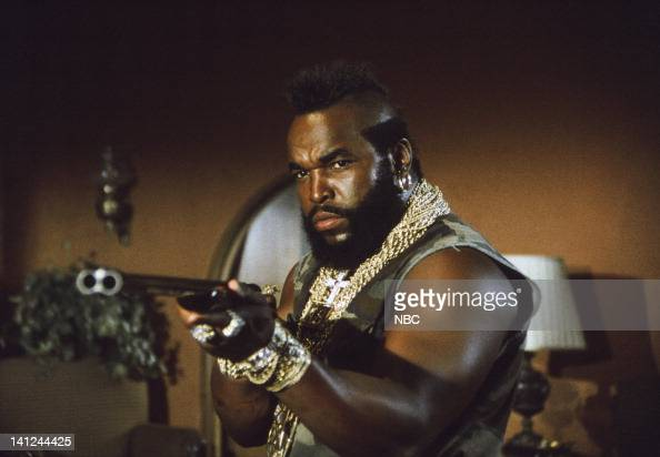 TEAM 'Water Water Everywhere' Episode 10 Pictured Mr T as BA Baracus Photo by NBCU Photo Bank