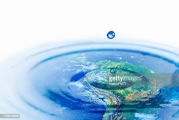 Water world -  Environmental conservation concept