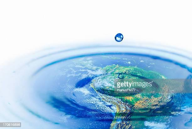 Water world-concepto de conservación del medio ambiente