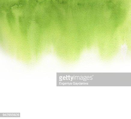 watercolor absrtract gradient green : Stock Photo