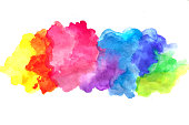 watercolor abstract background on papper