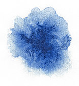 Abstract blue spot on white watercolor paper.Abstract blue spot on white watercolor paper.Abstract blue spot on white watercolor paper.Abstract blue spot on white watercolor paper.Abstract blue spot o