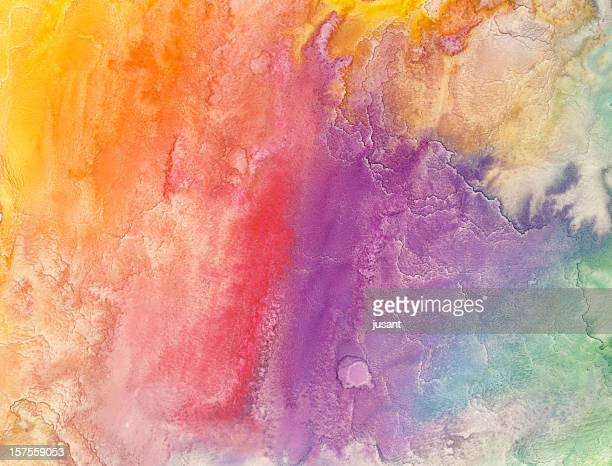 Watercolor rainbow painting