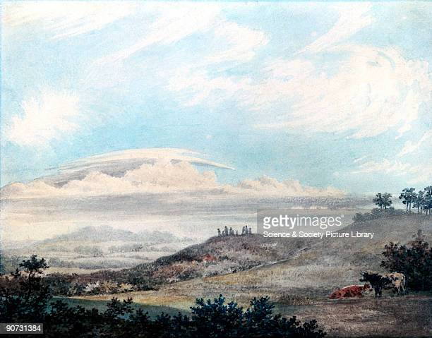 Watercolour sketch by Edward Kennion with cloud studies by Luke Howard This plate shows 'cumulostratus forming fine weather cirri above' Ordering and...