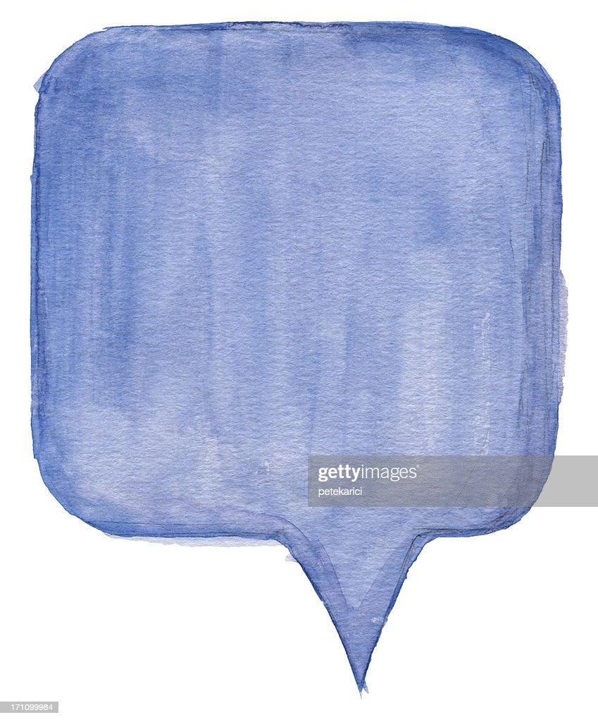 Watercolour Speech Bubble : Stock Photo