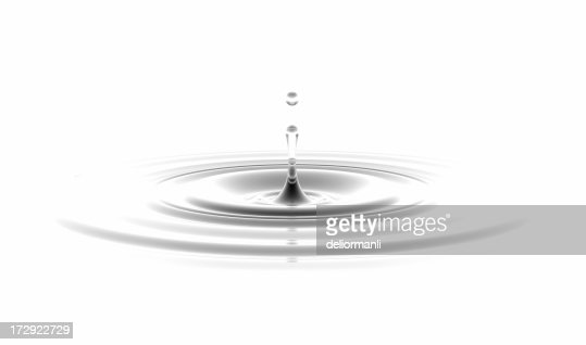 waterdrop on white background