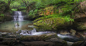 Sgydau Sychryd or the Sychryd Cascades is a set of waterfalls near Pontneddfechan, South Wales.