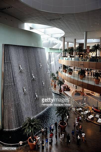 Waterfall at Dubai Mall Dubai United Arab Emirates