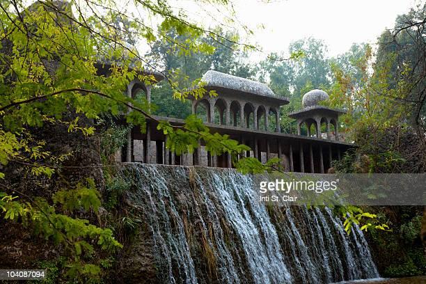 Waterfall at rock garden in Chandigarh, India