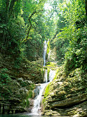 Waterfall at Xilitla in Mexico