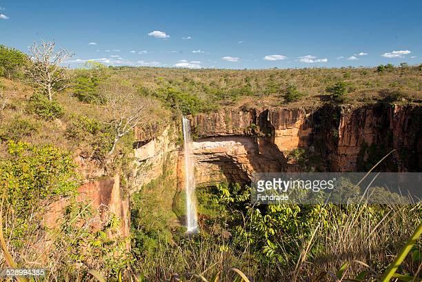 Waterfall Bridal Veil Mato Grosso Brazil