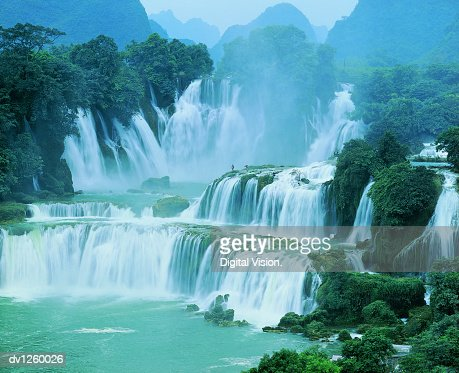 Waterfall, Detian, Guangxi Province, China : Stock Photo
