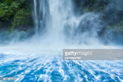 Waterfall Dropping into Fjord