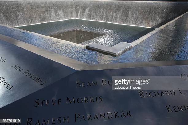 Waterfall Footprint of WTC National September 11 Memorial New York City New York
