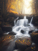 Waterfall in Auvergne (France)