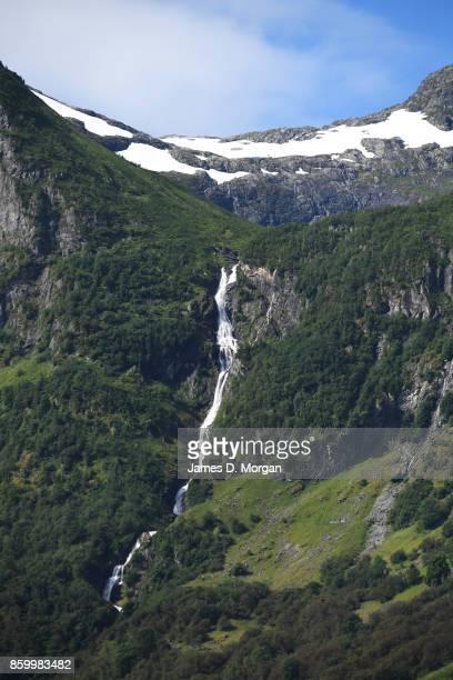 Waterfall in Norwegian fjordlands on February 8th 2017 in Norway