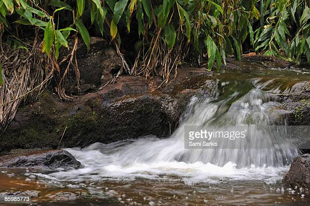 Waterfall in stream