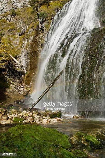 Waterfall in the Wasserlochklamm Gorge, Palfau, Gesaeuse National Park, Styria, Austria