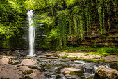 Remote Waterfall in Brecon Beacons National Park in Wales, United Kingdom.