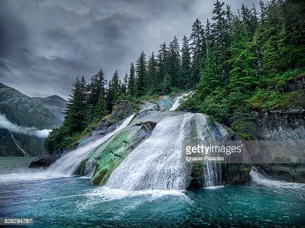 Waterfall, Inside Passage, Tracy Arm, Alaska