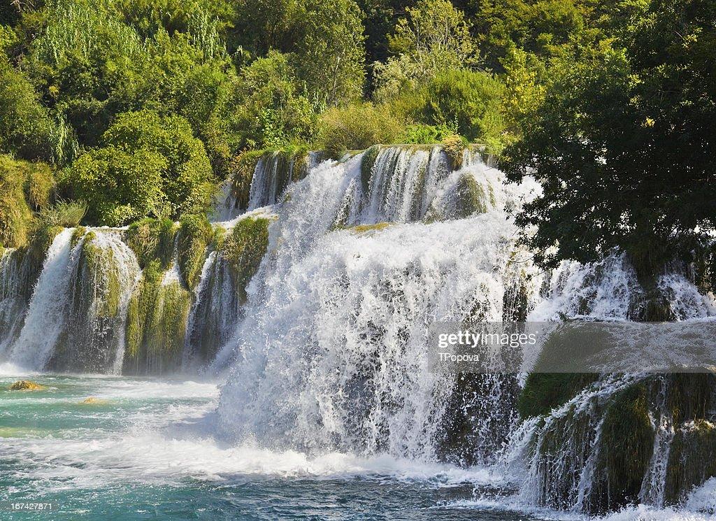 Waterfall KRKA in Croatia : Stock Photo