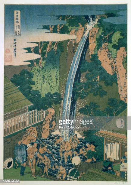 'Waterfall of Roben Oyama' Japan 1827 From the Victoria Albert Museum London