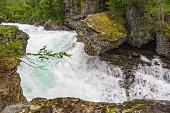 Waterfall on Rauma river, Norway