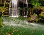 Long exposure waterfall scene of the Green River near Black Diamond Washington USA