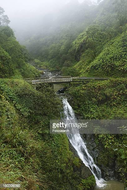 Waterfall on the Road to Hana, Hana Highway, Hawaii, USA