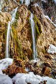 A small waterfall on the 'Maximilan Reitweg' in Bischofswiesn near Berchtesgaden in the Bavarian alps.