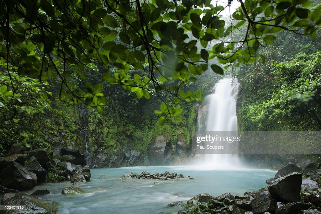 Waterfall, Tenorio Volcano, Costa Rica : Stock Photo