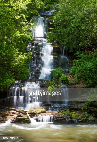 Waterfall Tom Branch Falls  in the Smoky Mountains National Park : Stock Photo