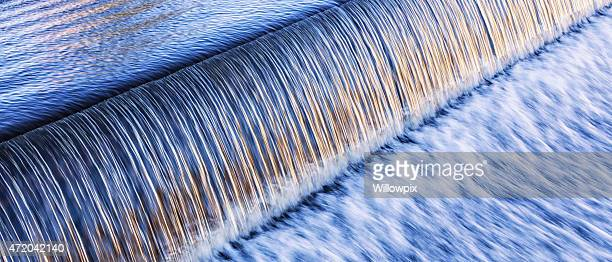 Waterfall Water Rushing Over Dam