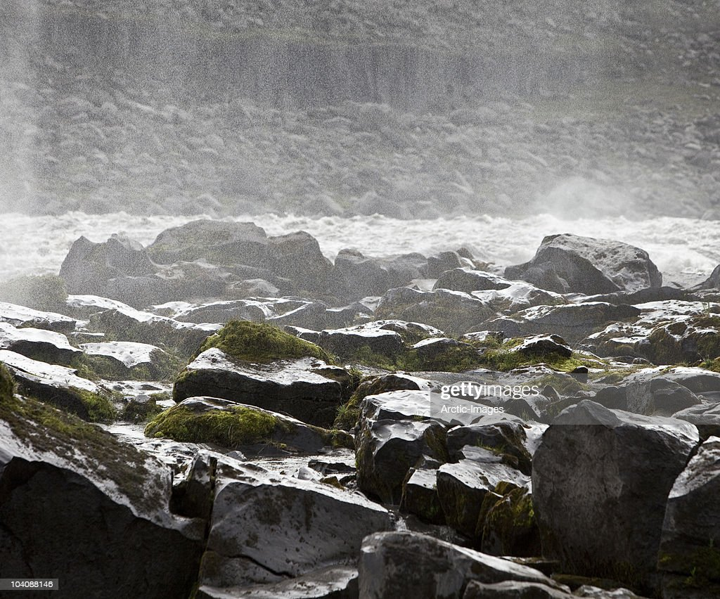 Waterfall with rocks : Stock Photo