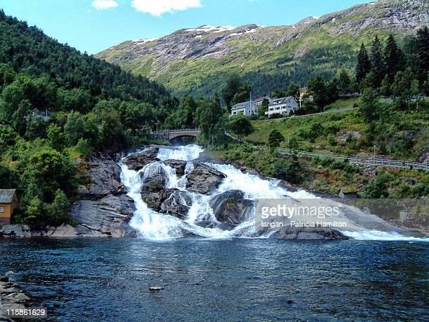 Waterfalls near Hellesylt