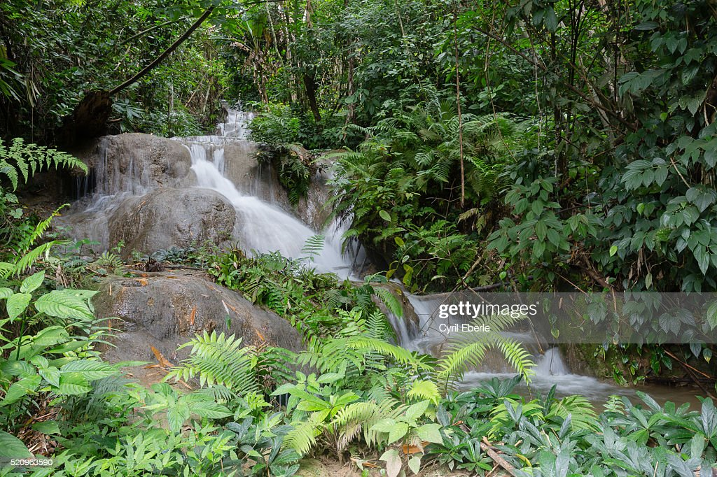 100 waterfalls Nong Khiaw : Stock Photo