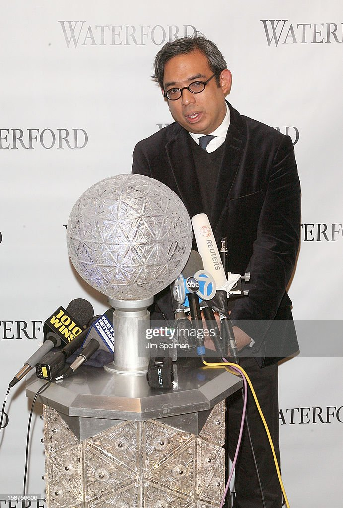 Waterford senior brand director Regan Iglesia attends the installation of 288 New Waterford Crystals on the 2013 Times Square New Year's Eve Ball at One Times Square on December 27, 2012 in New York City.