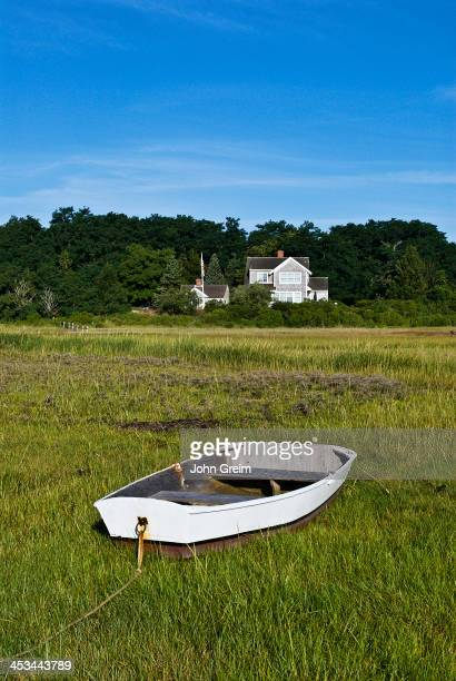 Waterfront beach house and dinghy