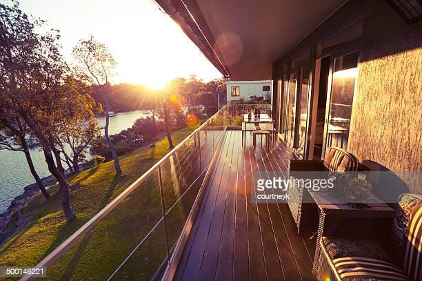 Waterfront house Balkon